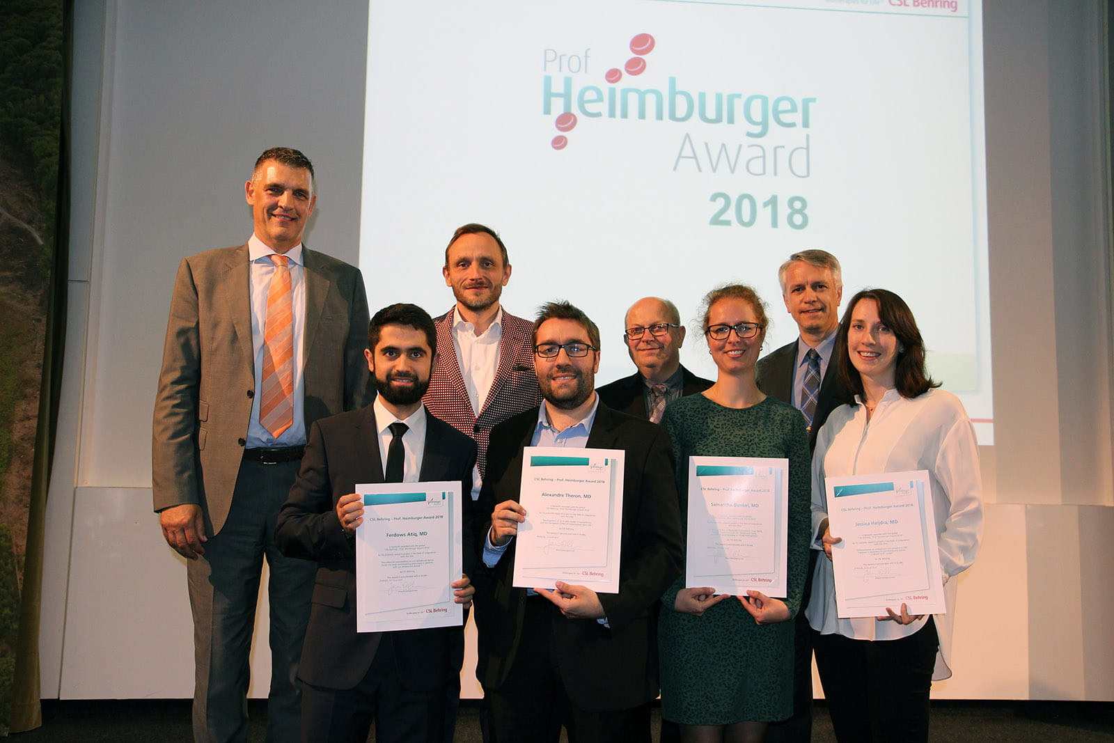 Heimburger Award 2018 Winners